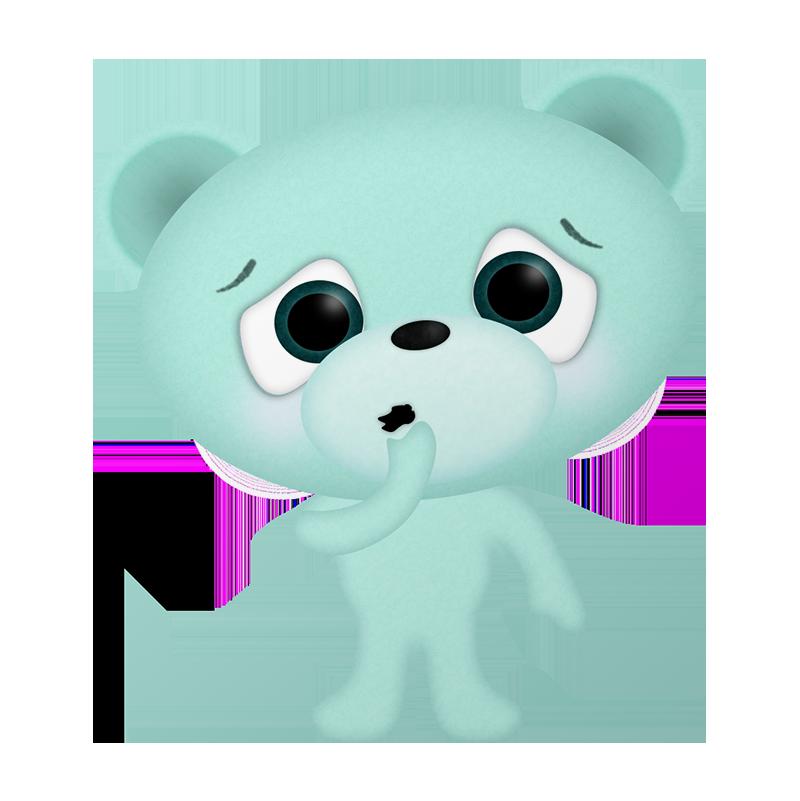 Worried bear looks on...